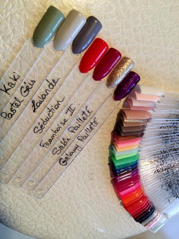 Palette de couleurs gel