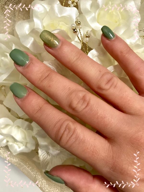 ongles gel ballerine printemps